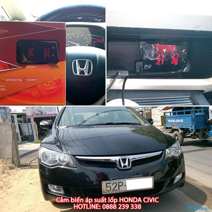 Lắp đặt cảm biến áp suất lốp Honda Civic