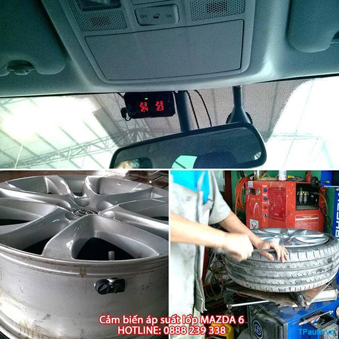 Lắp đặt cảm biến áp suất lốp Mazda 6