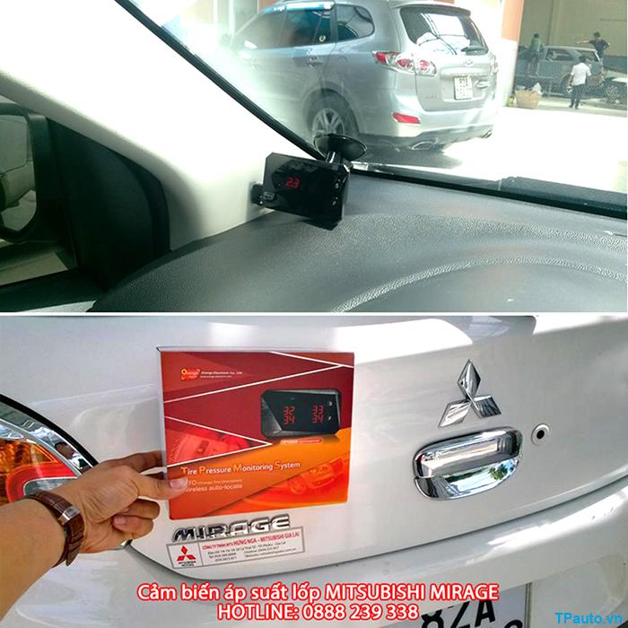 Lắp đặt cảm biến áp suất lốp Mitsubishi Mirage