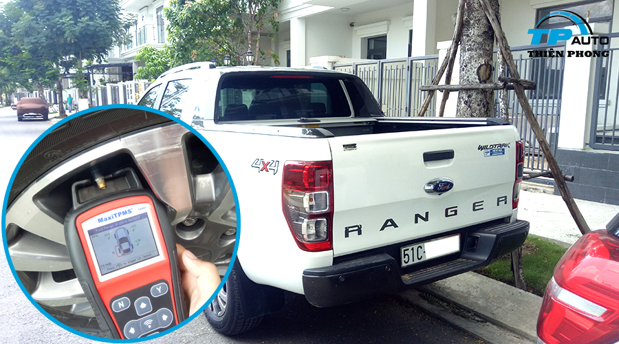 Chẩn đoán và thay cảm biến áp suất lốp Ford Ranger Wildtrak 2017