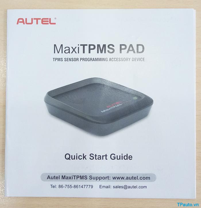 sách hướng dẫn sử dụng tpms pad