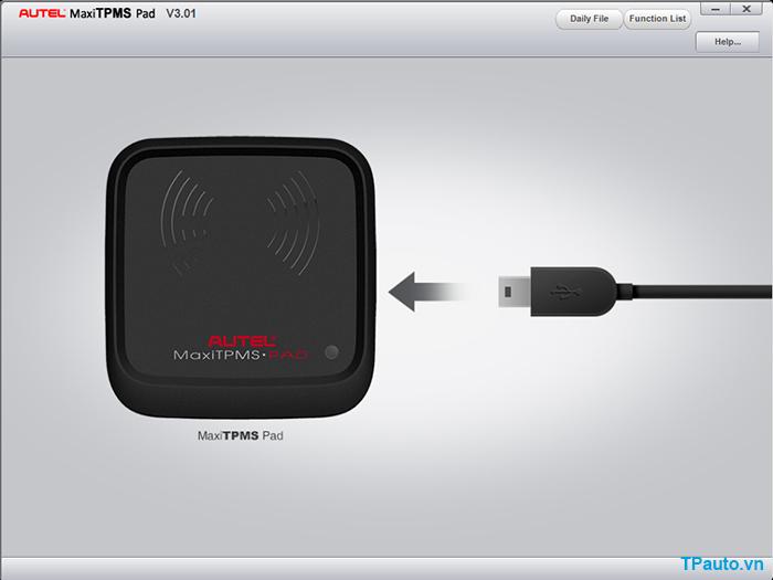 phần mềm lập trình cảm biến áp suất lốp cho tpms pad