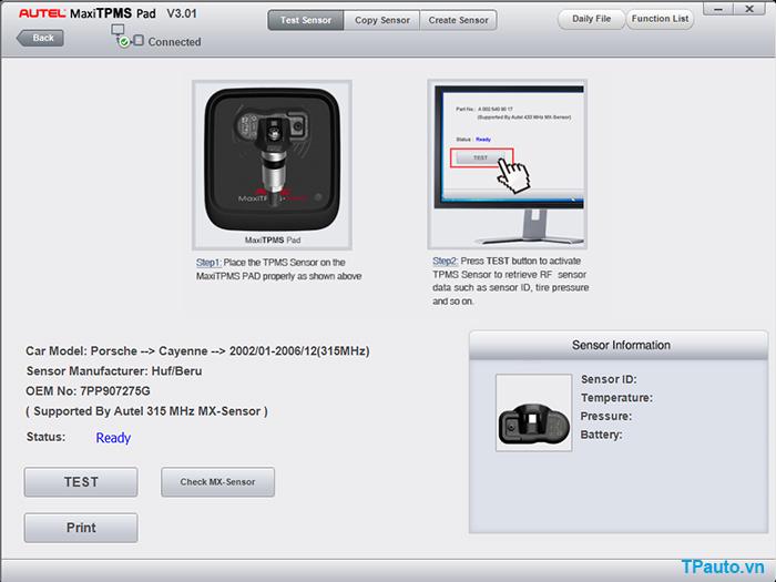 Autel MaxiTPMS Pad V3.01