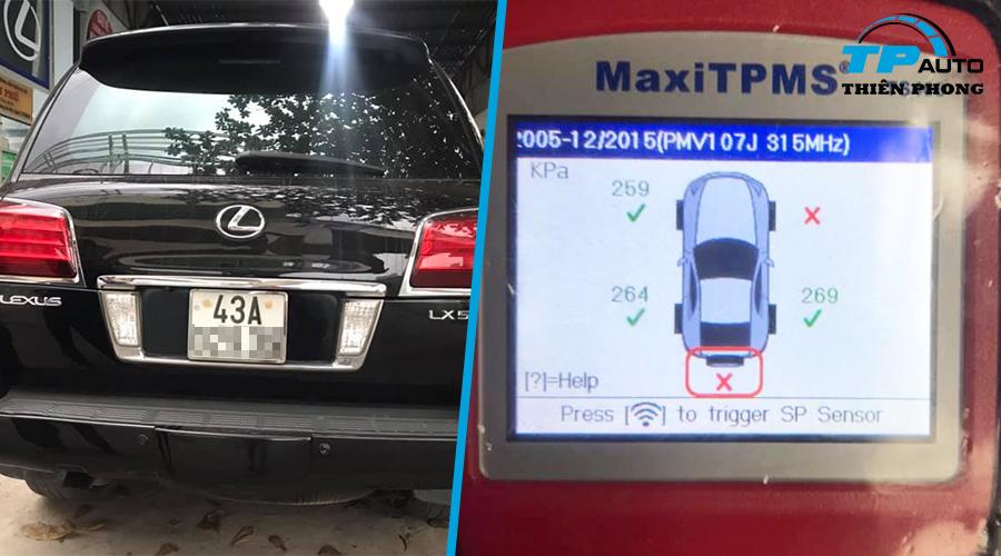 Thay van cảm biến áp suất lốp Lexus LX570 2008